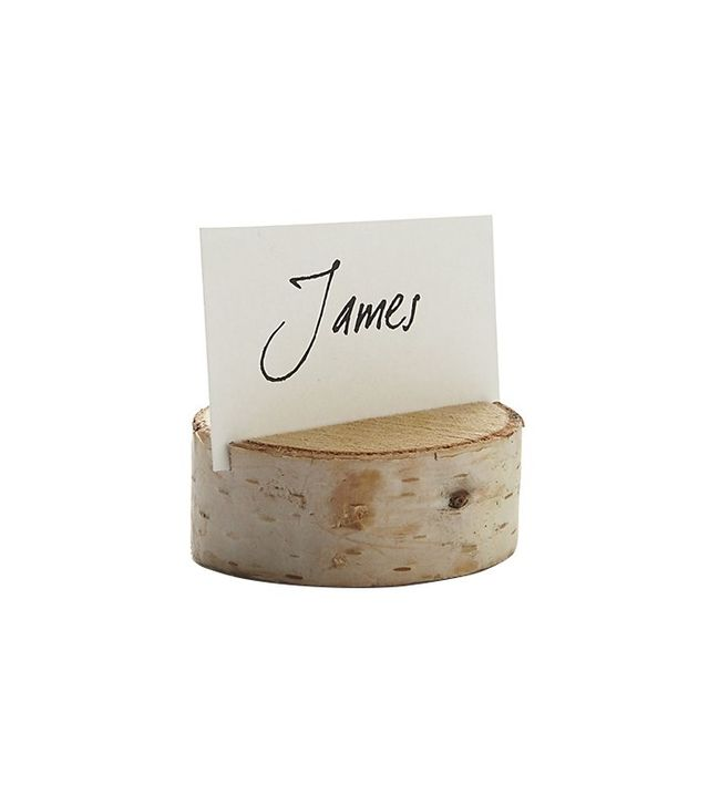 Crate and Barrel Stump Wood Place Card Holder