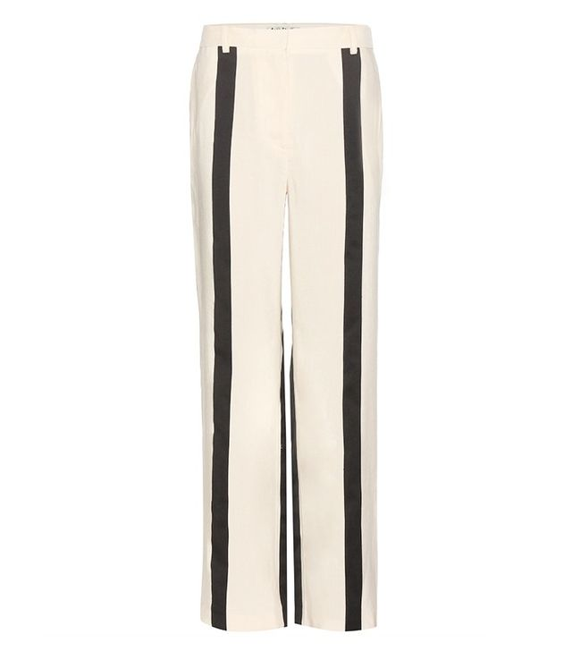 Acne Studios Obel Striped Linen-Blend Trousers