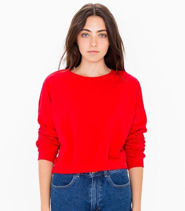 American Apparel California Fleece Cropped Sweatshirt