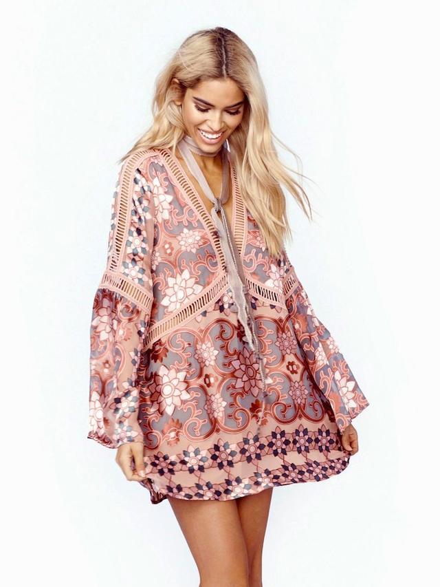 For Love & Lemons Juliet Mini Dress