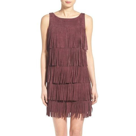 Suede Fringe Minidress