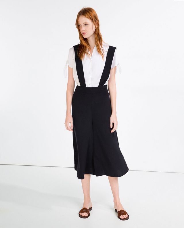 Zara Culottes With Braces