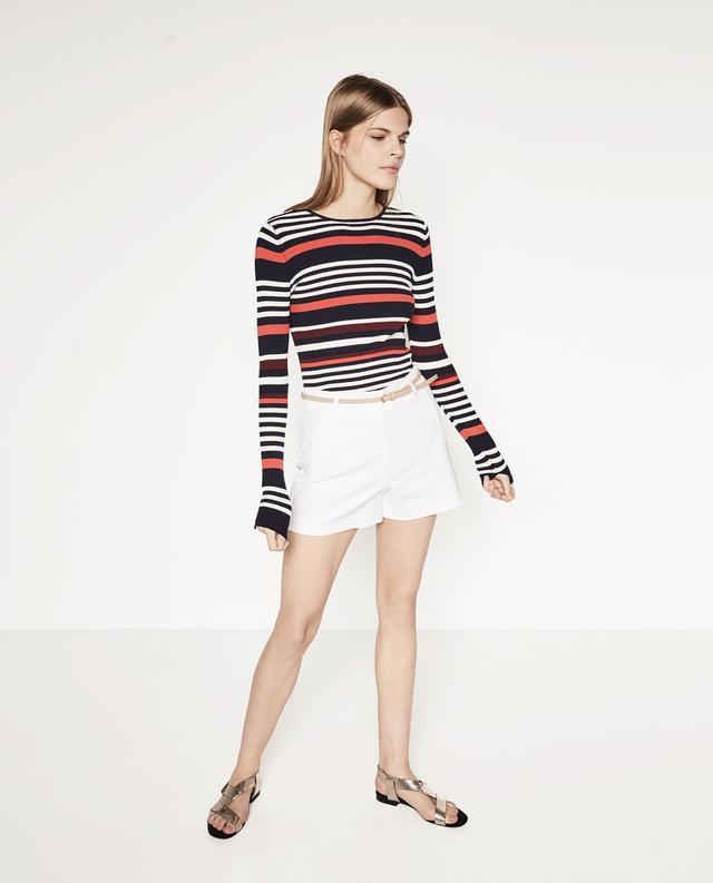 Zara Bermuda Shorts With Belt