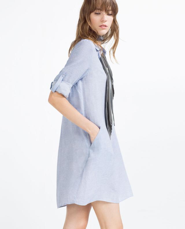 Zara Slanted Pocket Tunic