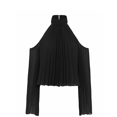 Perris Cold Shoulder Pleated Blouse