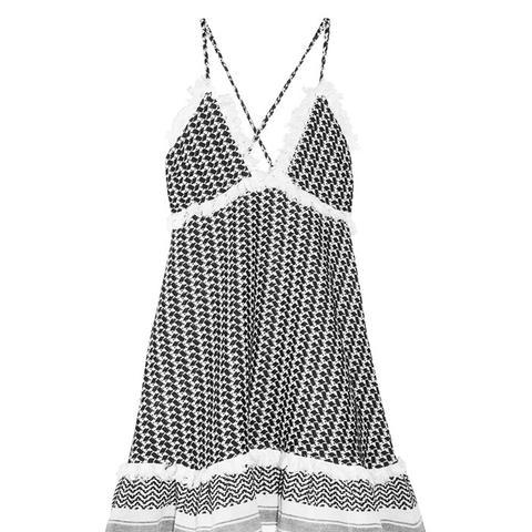 Tasseled Cotton-Gauze Dress