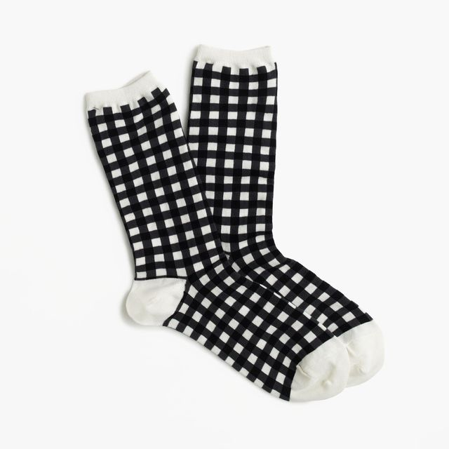 J.Crew Gingham Ankle Socks