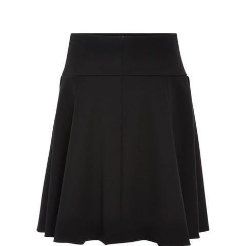 Wool A-Line Skirt