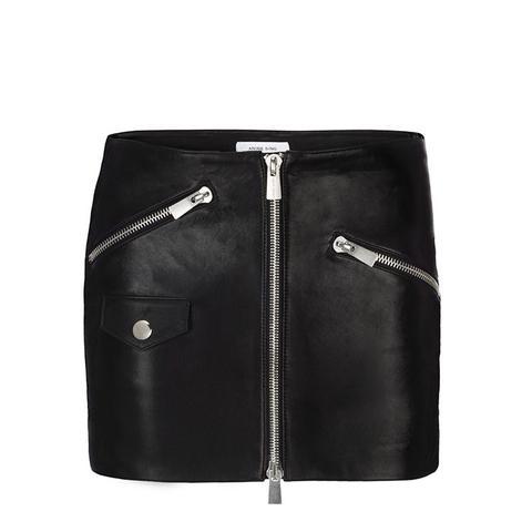Moto Leather Skirt