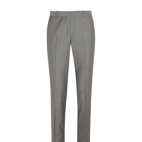 Kong Wool-Twill Slim-Leg Pants