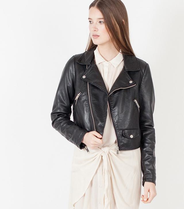 Modern Citizen Miro Vegan Leather Moto Jacket