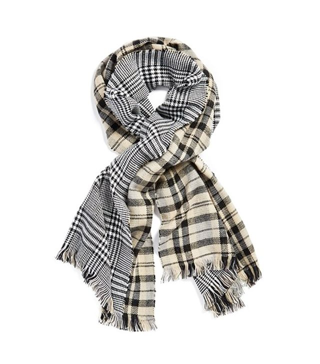 Michael Stars 'Reverse It' Reversible Plaid Scarf