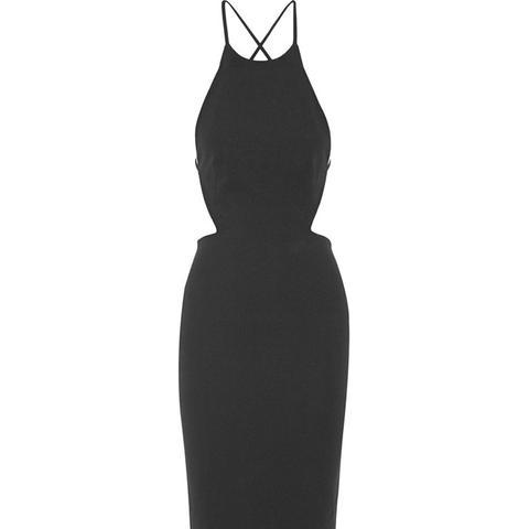 Phoebe Open-Back Crepe Dress