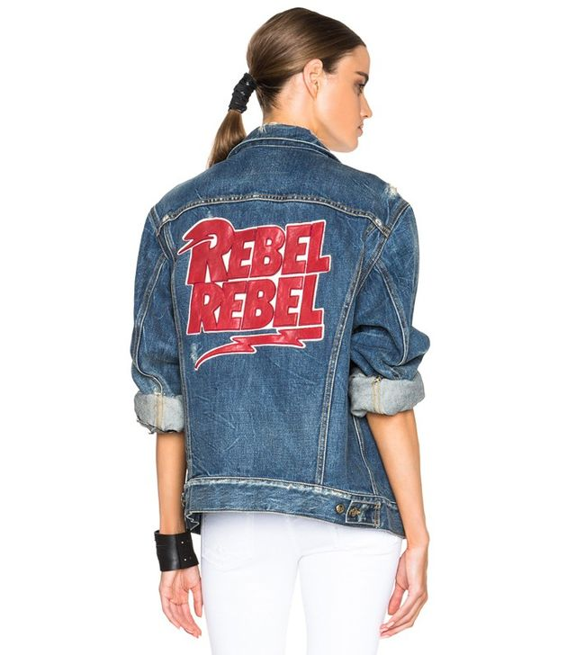 R13 Embroidered Rebel Trucker Jacket