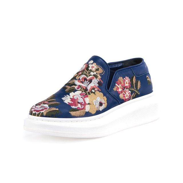 Alexander McQueen Embroidered Slip-On Sneaker