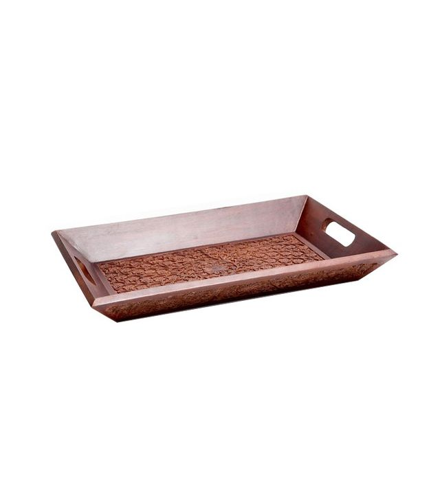 Zara Home Carved Wooden Tray
