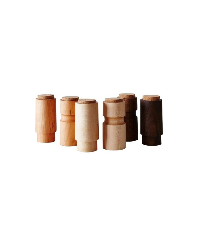 Caravan Pacific Turned Wooden Spice Jars