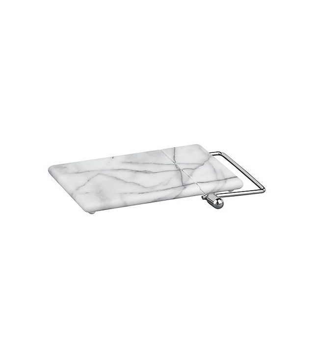 Crate and Barrel French Kitchen Marble Cheese Board with Slicer
