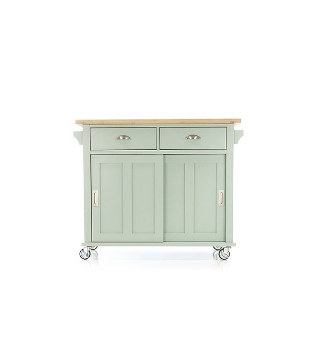 Crate and Barrel Belmont Mint Kitchen Island