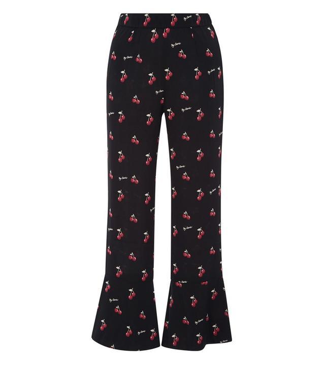 Piamita Silk Pandora Cherry Print Pants