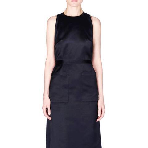 Patch Pocket Wrap Dress