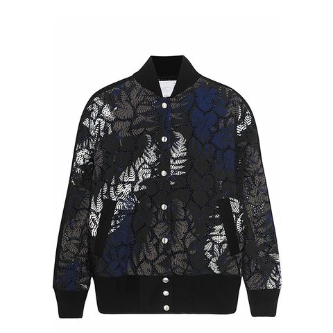 Guipure Lace Bomber