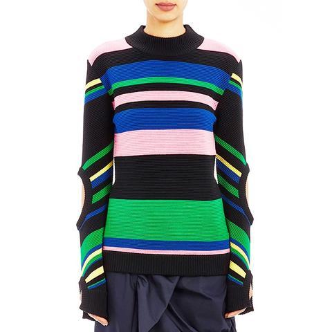 Ottoman-Knit Sweater