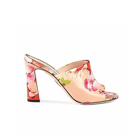 Blooms-Print Sandals