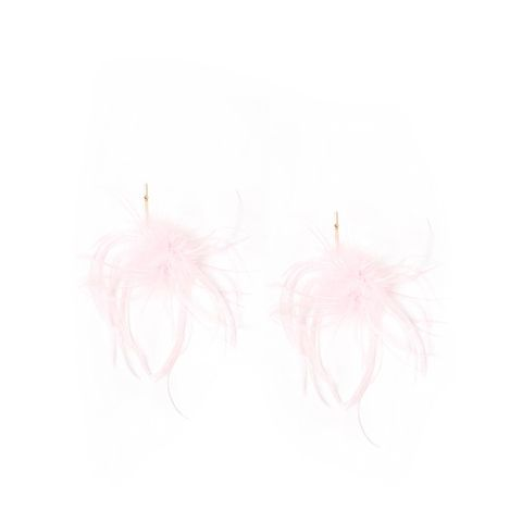 "3"" Marabou Ostrich Pom Pom Earrings"