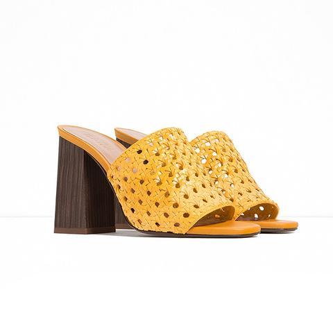Braided Slingback Heels
