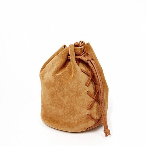 Mini Suede Lace Up Duffle Bag