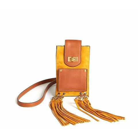 Jane Mini Tasseled Suede & Leather Bracelet Crossbody Bag