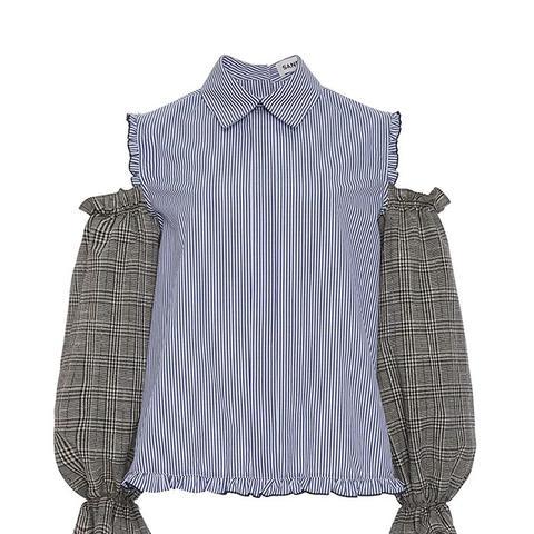 Delano Cold Shoulder Combo Shirt