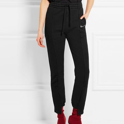 Cotton-Blend Track Pants