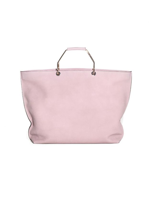 & Other Stories Metal Handle Leather Tote