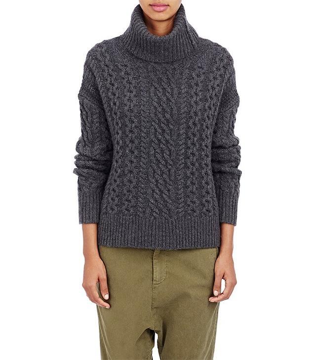 Nili Lotan Cable-Knit Turtleneck Sweater