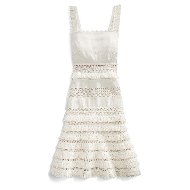 Jonathan Simkhai Mechanical Macrame Gown