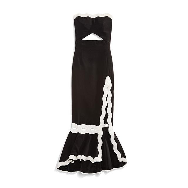 Jonathan Simkhai Scallop-Trim Dress