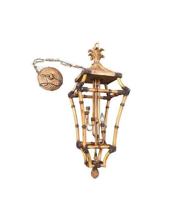 Chairish Faux Bamboo Pagoda Palm 6-Light Lantern Chandelier