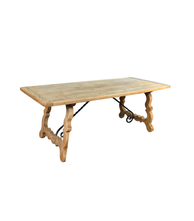 Provenance Antiques French Farm Trestle Table in Washed Oak