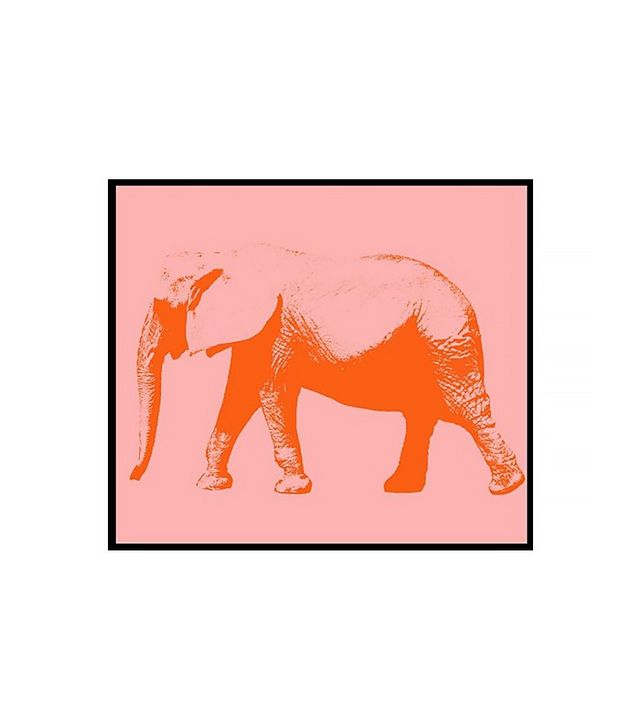 One Kings Lane Pink Elephant Print