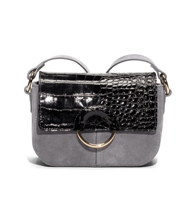 & Other Stories Embossed Leather Shoulder Bag