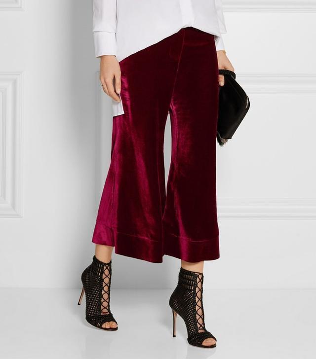 Ellery Lazio Velvet Flared Pants