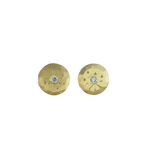 Mini Treasure Coin Diamond Studs