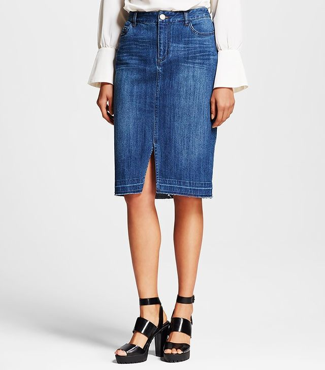 Who What Wear x Target Denim Pencil Skirt