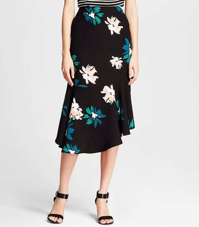 Who What Wear x Target Fluted Midi Skirt