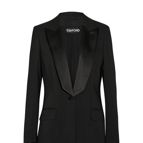 Satin-Trimmed Suxedo Jacket