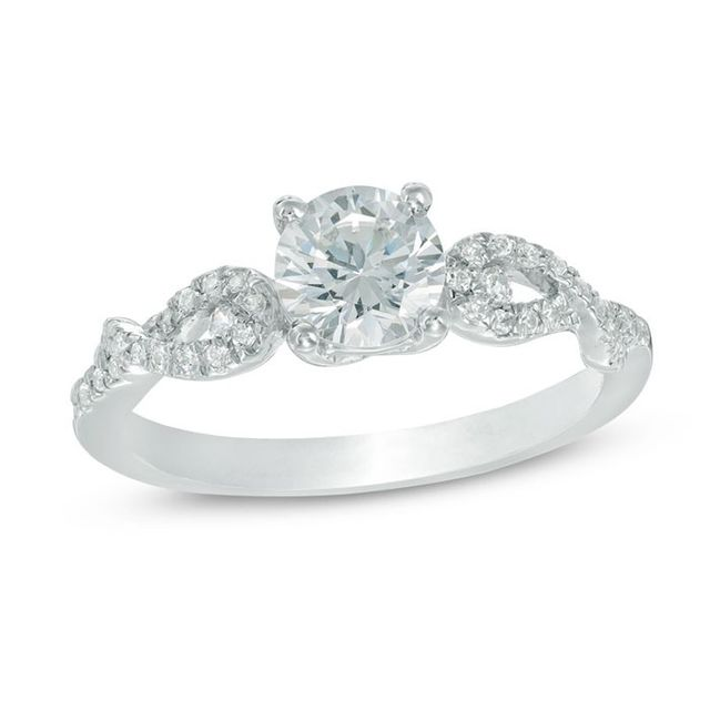 Zales 3/4 Carat Total Weight Diamond Twist Engagement Ring in 10K White Gold