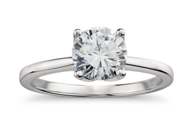 Monique Lhuillier Solitaire Engagement Ring