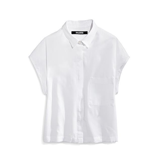 Baldwin Erinn Sleeveless Crop Shirt White